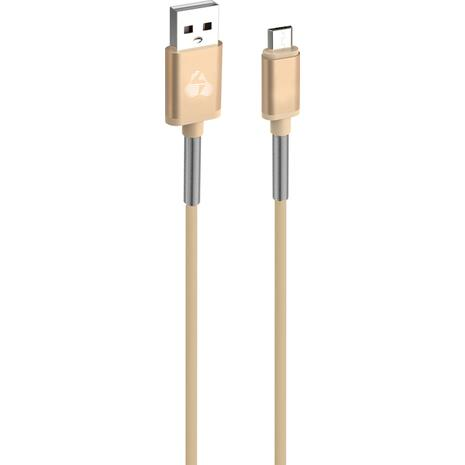 Καλώδιο USB POWERTECH 2.1A Sync & Charge Micro 1m χρυσό
