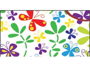 """Χαρτί περιτυλίγματος 70x100cm """"πολύχρωμες πεταλούδες"""""""
