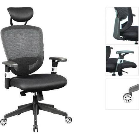 Πολυθρόνα γραφείου διευθυντή BF9100 μαύρη [E-00009703(EO521)] (Μαύρο)