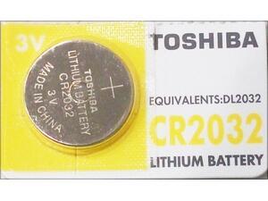 Αλκαλική μπαταρία TOSHIBA λιθίου CR2032