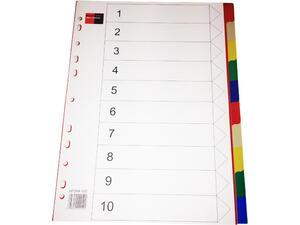 Διαχωριστικά πλαστικά χρωματιστά BlackRed A4 (1-10)
