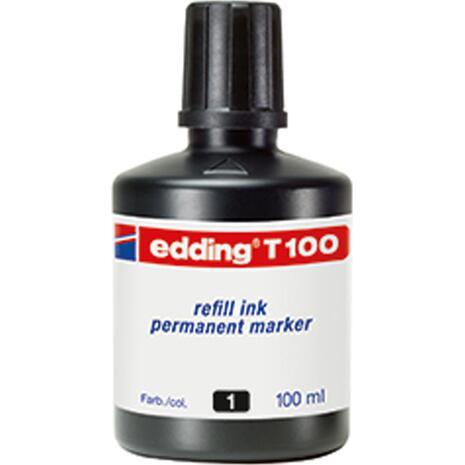 Μελάνι για μαρκαδόρο ανεξίτηλο EDDING Τ-100 100ml μαύρο