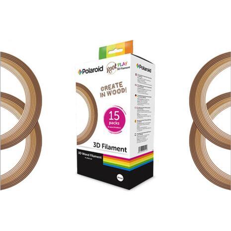 Ανταλλακτικά νήματα root 3d Pen Polaroid Wood  (συσκευασία 15 τεμαχίων)