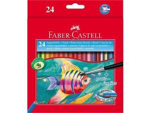 Ξυλομπογιές Ακουαρέλας FABER CASTELL +πινέλο (συσκευασία 24 τεμαχίων)