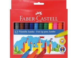 Μαρκαδόροι FABER CASTELL Jumbo  (Συσκευασία 12 Τεμαχίων)