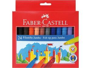 Μαρκαδόροι ζωγραφικής FABER CASTELL Jumbo fiber (Συσκευασία 24 τεμαχίων)