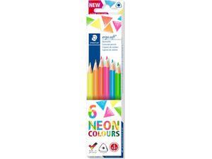Ξυλομπογιές STAEDTLER Ergosoft Neon Colours (Συσκευασία 6 τεμαχίων)