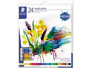 Σετ ακρυλικό χρώμα STAEDTLER 24 χρωμάτων 12ml