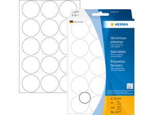 Ετικέτες HERMA αυτοκόλλητες στρογγυλές διάφανες 32mm No.2277