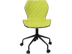 Καρέκλα Γραφείου DAVID PU μαύρο/λαχανί  ύφασμα ([Ε-00020986] ΕΟ207,4)