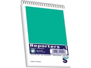 Μπλοκ Σπιράλ Skag Reporters No1 Λευκό