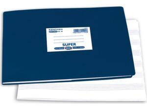 """Τετράδιο Skag """"ΕΞΗΓΗΣΗ SUPER"""" Μουσικής Πλάγιο 17x25 40 Φύλλων (Μπλε)"""