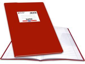 """Τετράδιο Skag """"ΕΞΗΓΗΣΗ SUPER"""" Ριγέ 100 Φύλλων 17x25 Κόκκινο (Κόκκινο)"""