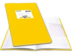 """Τετράδιο Skag """"ΕΞΗΓΗΣΗ SUPER"""" Ριγέ 100 Φύλλων 17x25 Κίτρινο (Κίτρινο)"""