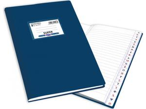 """Ευρετήριο Λατινικό Skag """"ΕΞΗΓΗΣΗ SUPER"""" 50 Φύλλων 17x25 Μπλε (Μπλε)"""