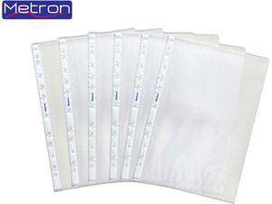 Ζελατινες METRON  Α4 ενισχυμένες με οπές (57100) (1 τεμάχιο)