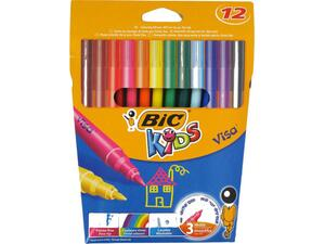 Μαρκαδόροι ζωγραφικής BIC Kids Visa Colour Washable (12 τεμάχια)