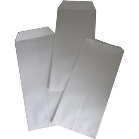 Φάκελος Αλληλογραφίας λευκός 11,5x23,5cm  (ΣΑΚΟΥΛΑ) (1 τεμάχιo) (Λευκό)