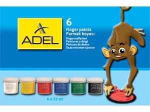 Δακτυλομπογιές ADEl colors 25ml (6 τεμάχια)