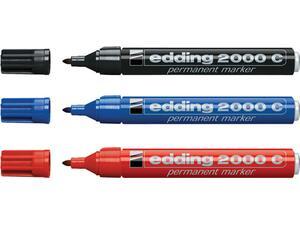 Μαρκαδόρος ανεξίτηλος EDDING 2000C σε διάφορα χρώματα