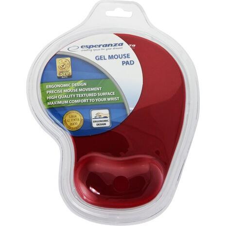 Mouse Pad με στήριγμα καρπού κόκκινο