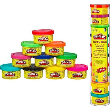 PLAY-DOH party pack μίνιν βαζάκια 10 τεμαχίων