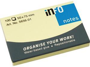 Αυτοκόλλητα χαρτάκια σημειώσεων Info 50x75mm