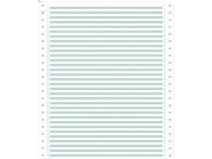 Μηχανογραφικό χαρτί 11x9.5 μονό λευκό με γραμμές RF πράσινες