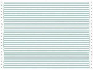Μηχανογραφικό χαρτί 11x15 μονό λευκό με γραμμές RF πράσινες