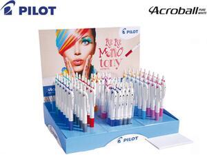 Στυλό μελάνης λαδιού PILOT Acroball Pure White 1.00mm σε διάφορα χρώματα