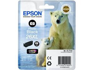 Μελάνι εκτυπωτή EPSON 26XL Photo Black