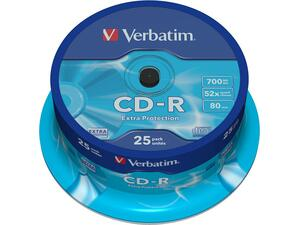 CD-R VERBATIM 700MB 52x Cake box (25 τεμάχια)