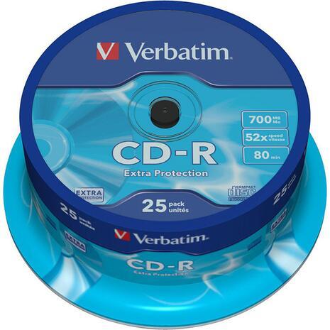 CD-R VERBATIM 700MB 52x Cake box (25 τεμάχια)