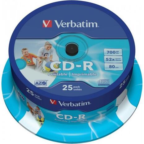 CD-R VERBATIN 52X 700MB  printable Cake box(25 τεμαχίον)
