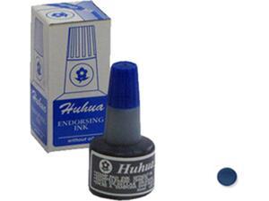 Μελάνι HUHUA ταμπόν εγχώριο μπλέ 30ml (Μπλε)