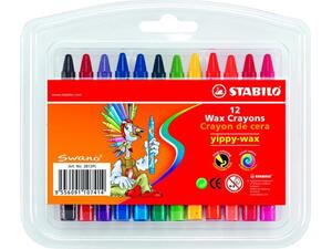 Kηρομπογιές STABILO (12 τεμάχια) (Διάφορα χρώματα)