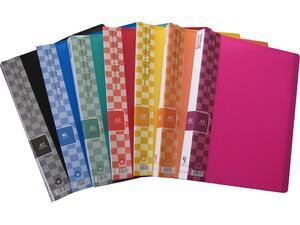 Ντοσιέ SUNFULL 40 διαφανείς θήκες display book σε διάφορα χρώματα
