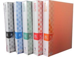 Ντοσιέ SUNFULL 80 διαφανείς θήκες display book σε διάφορα χρώματα