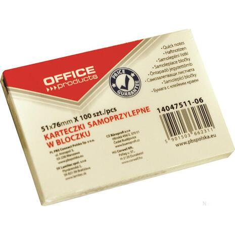 Αυτοκόλλητα χαρτάκια σημειώσεων OFFICE 51x76mm (Κίτρινο)