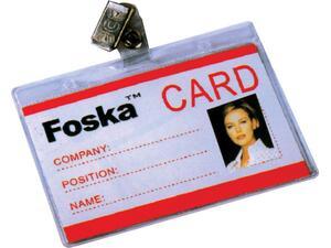 Kαρτελάκι Foska ονόματος οριζόντιο με κλιπ 11x8,3cm.