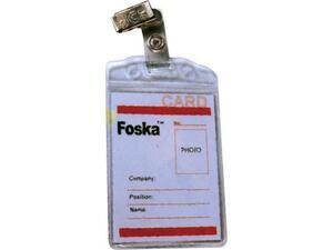 Kαρτελάκι Foska ονόματος κάθετο με κλιπ 11,8x7,4cm.