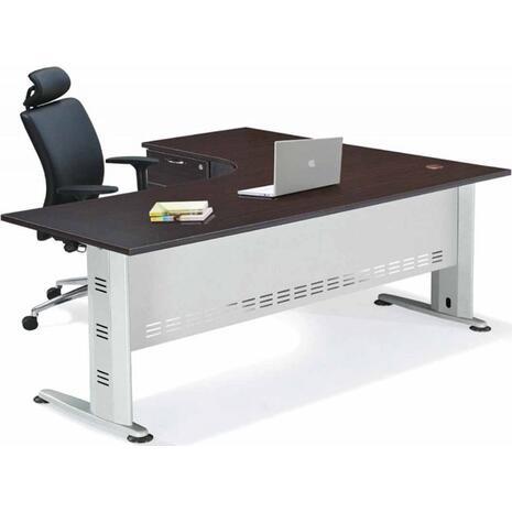 Γραφείο επαγγελματικής χρήσης Superior - αριστερή γωνία 180x70x75/150x60x75 (Καφέ)