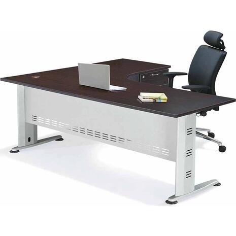 Γραφείο επαγγελματικής χρήσης Superior - δεξιά γωνία 180x70x75/150x60x75 (Καφέ)