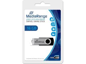 Mediarange flash drive 16GB USB 2.0 swivel swing stick mr910