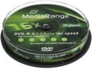 DVD-R Media Range Spindle 10 Τεμαχια 4.7Gb16X