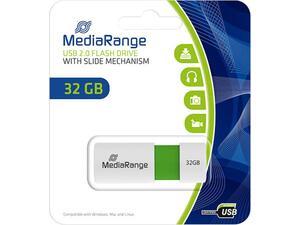 Mediarange flash drive 32GB USB 2.0 witth slide mechanism mr973