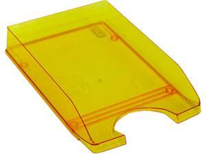 Χαρτοθήκη γραφείου πλαστικό διάφανο πορτοκαλί