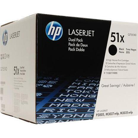 Toner εκτυπωτή HP Q7551XD  Black (Dual pack) (Black)