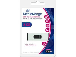 Mediarange flash drive 8GB USB 3.0 with slide mechanism mr914