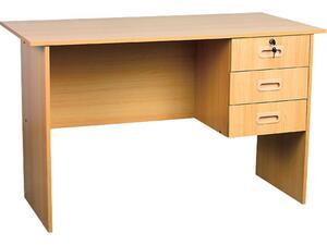 Έπιπλο γραφείο εργασίας με 3 συρτάρια Cherry 120x60x73cm